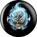 OTB Michael Graham Flaming Blue Skull